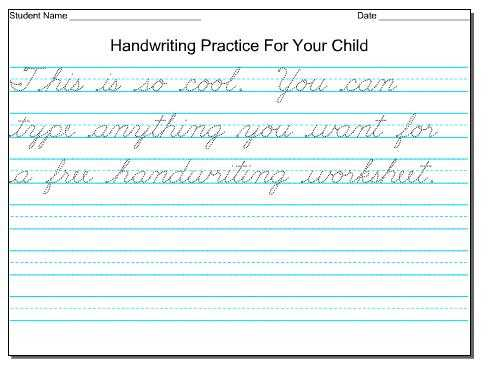 Cursive Writing Worksheets for Kids together with Cursive Writing Worksheets for 3rd Graders Worksheets for All