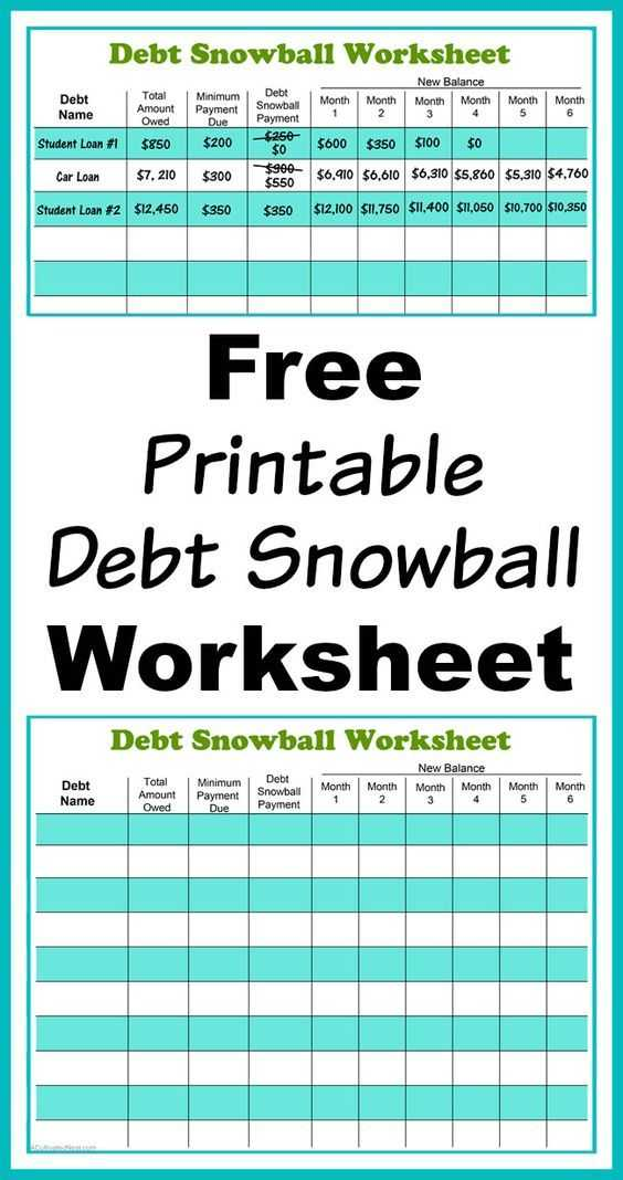 Dave Ramsey Debt Snowball Worksheet or Free Printable Debt Snowball Worksheet Pay Down Your Debt