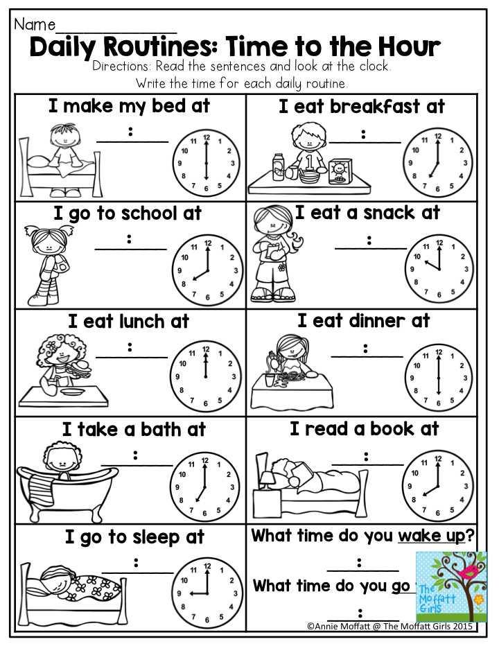 Digital Clock Worksheets or Daily Routines Time to the Hour This is A Great Activity to Help