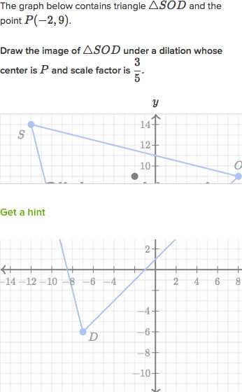 Dilations Worksheet Answer Key or Dilating Shapes Expanding Video