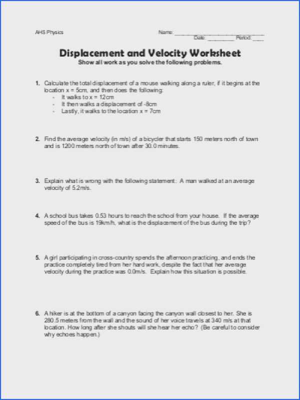 Distance and Displacement Worksheet Answers and 24 Awesome Pics Distance and Displacement Worksheet Answer Key