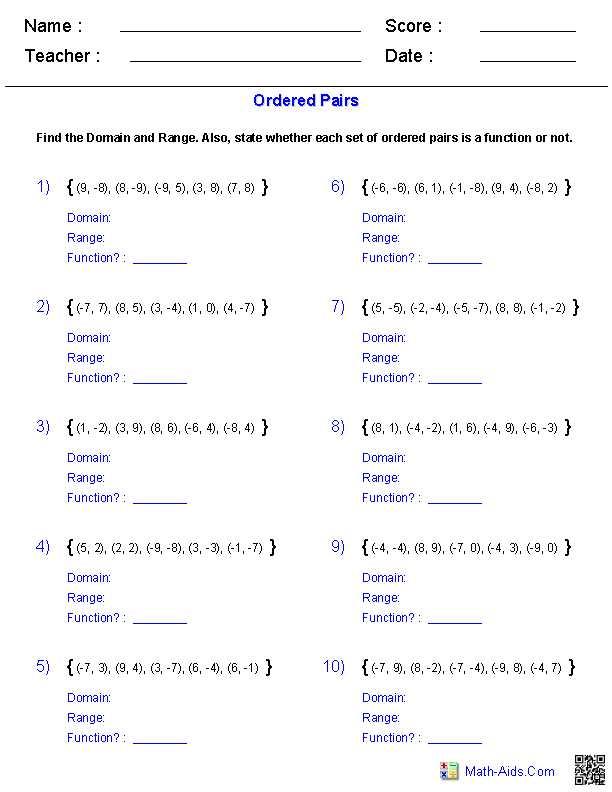 Domain and Range Practice Worksheet and Interval Notation Worksheet Kidz Activities
