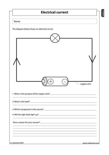 Electric Circuits and Electric Current Worksheet Answers Also 54 Best Electricity Images On Pinterest