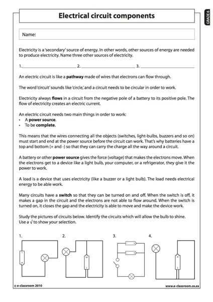 Electric Circuits and Electric Current Worksheet Answers or 13 Best Inquiry Images On Pinterest