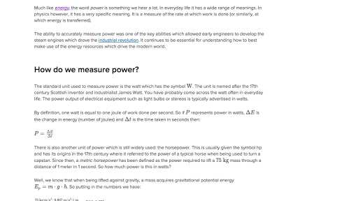 Electrical Power Worksheet Answers Along with Conservation Of Energy Video