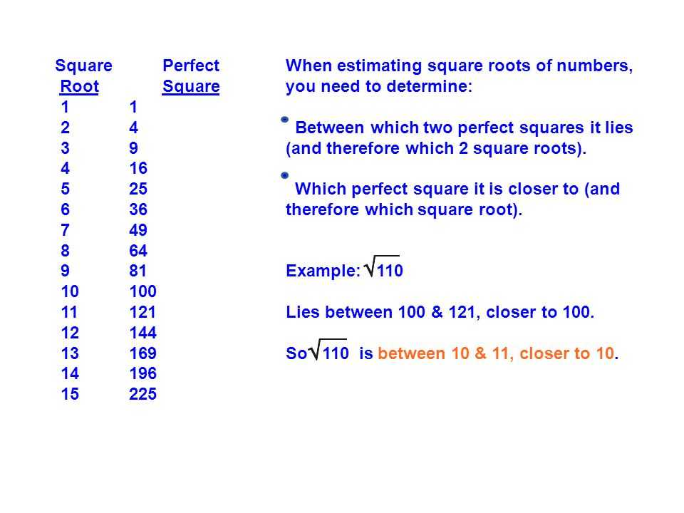 Estimating Square Roots Worksheet Also Estimating & Approximating Square Roots Ppt
