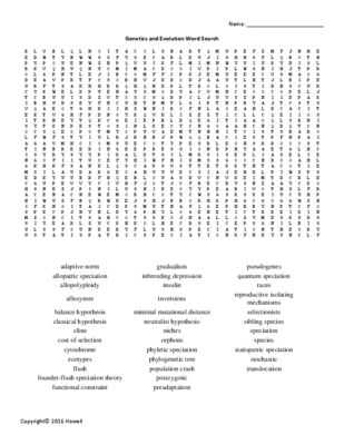 Evolution Vocabulary Worksheet Also 12 Best Earth Science Vocabulary Crosswords for Earth Science