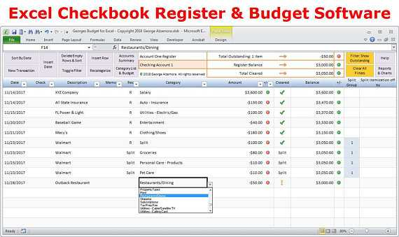Excel Checkbook Register Budget Worksheet Also Excel Bud Spreadsheet Template and Checkbook Register