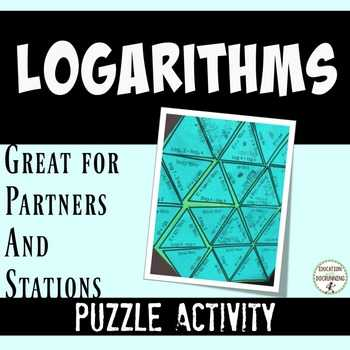 Expanding and Condensing Logarithms Worksheet Along with Logarithms Puzzles Teaching Resources