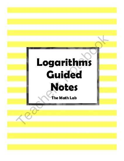 Expanding and Condensing Logarithms Worksheet as Well as Logarithmic Functions Guided Notes From the Math Lab On