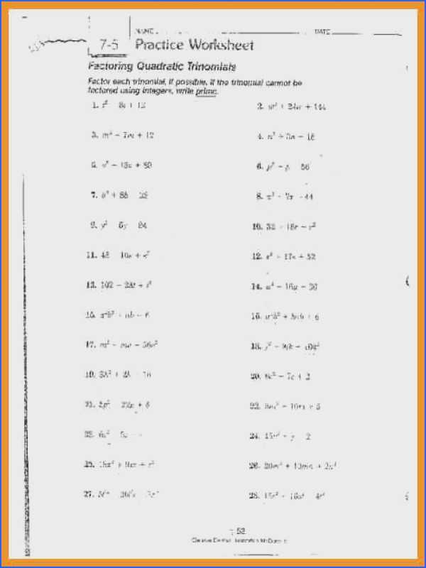 Factoring Binomials Worksheet as Well as Factoring Binomials Worksheet