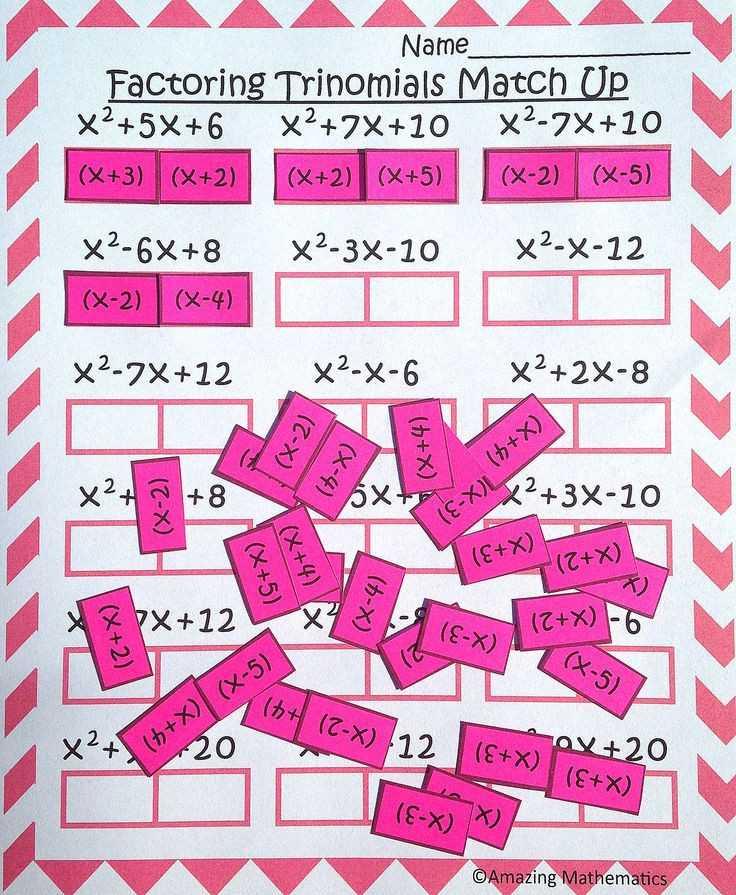 Factoring Practice Worksheet Also Algebra for Beginners Worksheets New Les 147 Meilleures Du