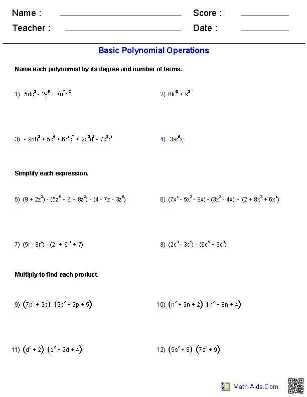 Factoring Practice Worksheet and Polynomial Functions Worksheets Algebra 2 Worksheets