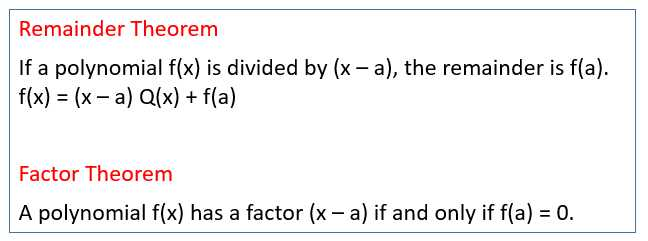 Factoring Special Cases Worksheet Also Remainder theorem solutions Examples Videos