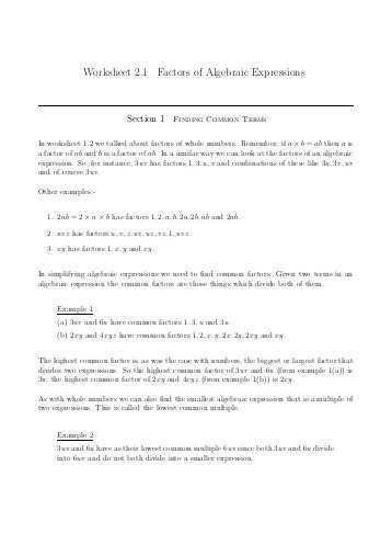 Factors Of Production Worksheet Answers with Worksheet 1 2 Factorization Of Integers