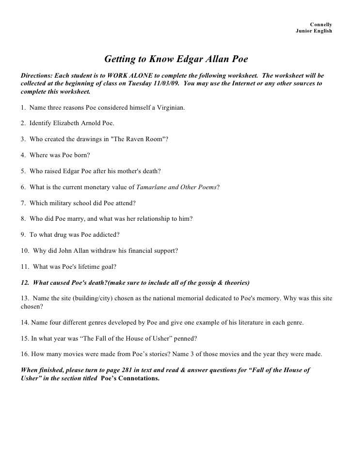 Fall Of the House Of Usher Worksheet Answers or the Fall the House Usher Worksheet Answers Choice Image