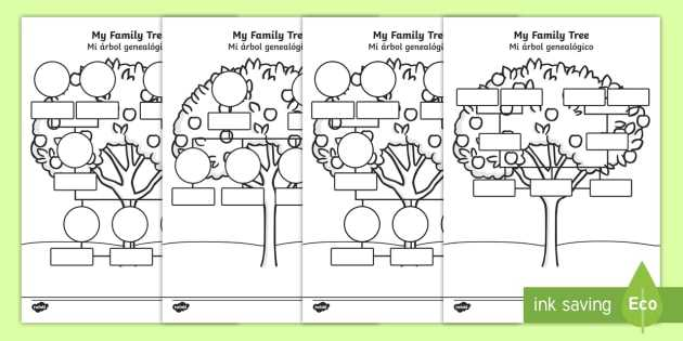 Family Tree Worksheet as Well as My Family Tree Worksheet Activity Sheets English Spanish