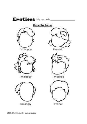 Feelings and Emotions Worksheets Printable and Esl Shape Worksheets Emotions Esl Emotions Feelings