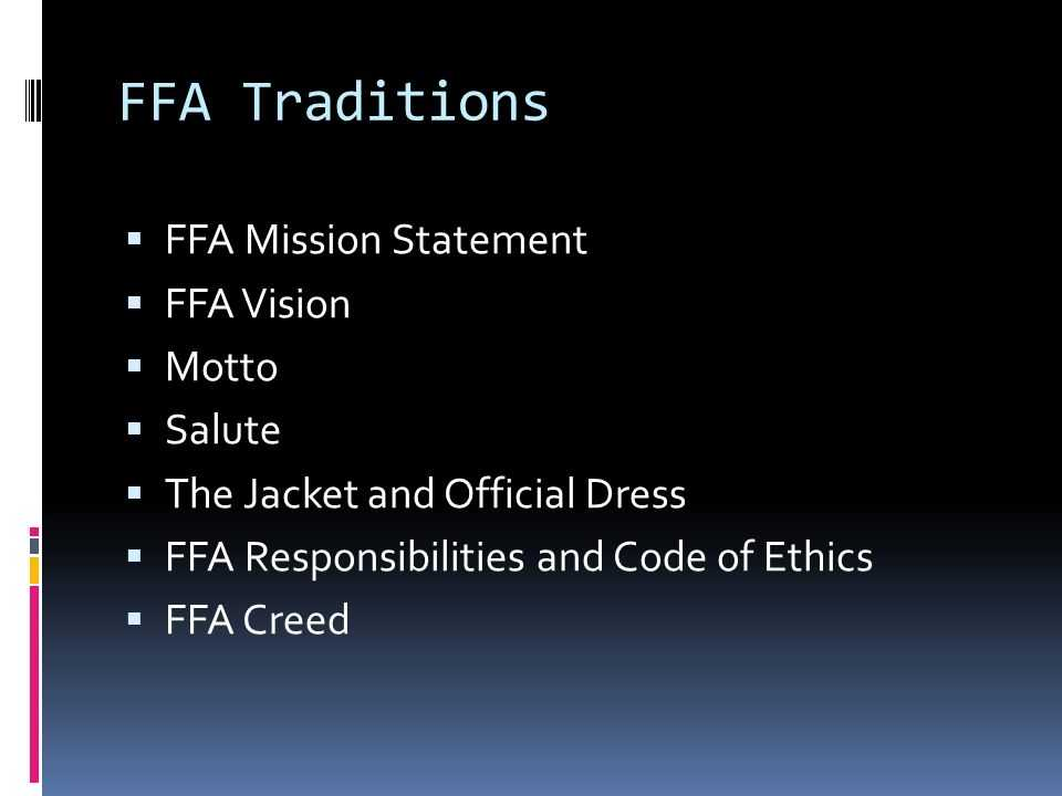Ffa Officer Duties Worksheet and Ffa Degree Requirements Ppt Video Online