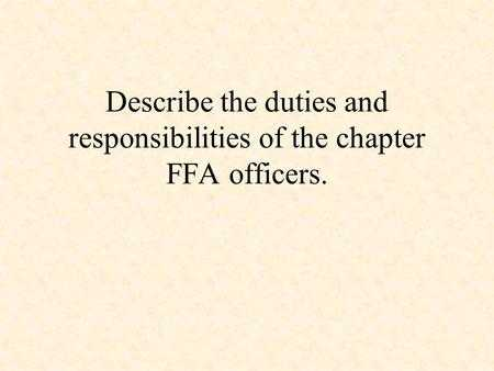 Ffa Officer Duties Worksheet and Protocol Fundamentals A Workshop for Philo S Presented by Janet E