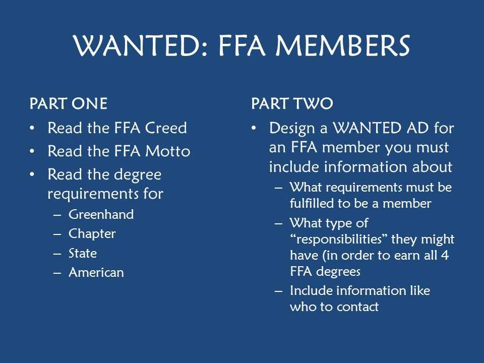 Ffa Officer Duties Worksheet together with Warm Up Word sort Directions Ppt