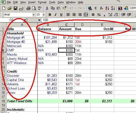 Financial Planning Worksheet Excel and Make A Personal Bud On Excel In 4 Easy Steps
