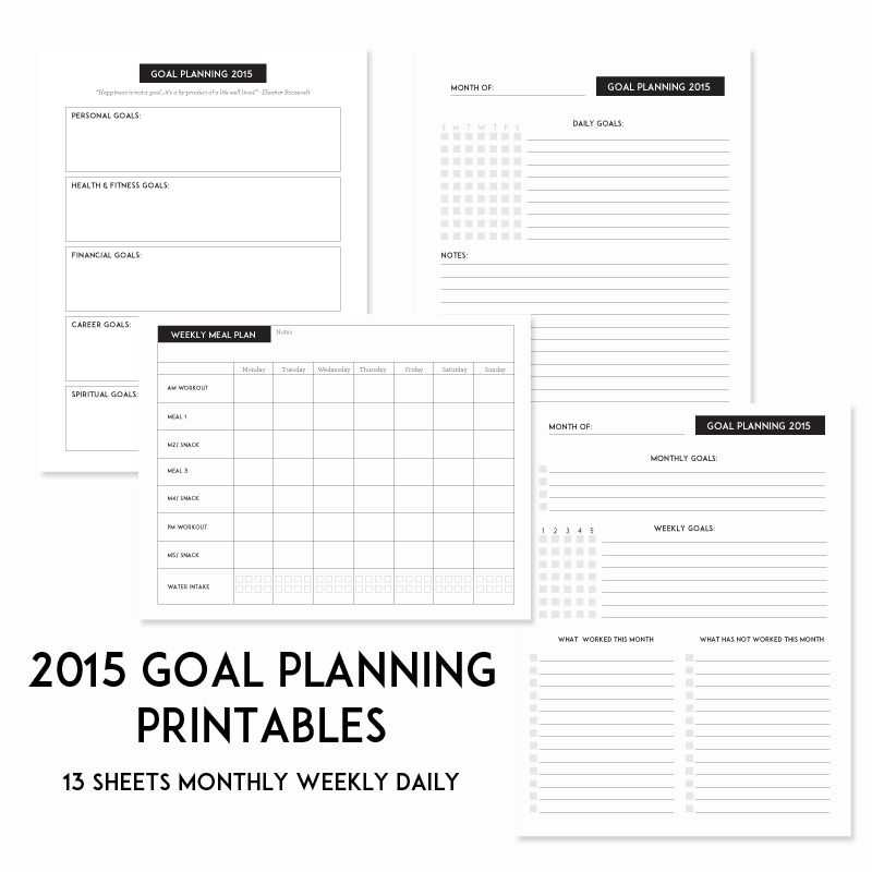 Financial Planning Worksheets Along with 2015 Spt Success Goal Sheets