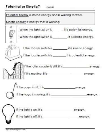 Forces and Friction Practice Worksheet Answer Key as Well as Potential or Kinetic Energy Worksheet Stem Energy
