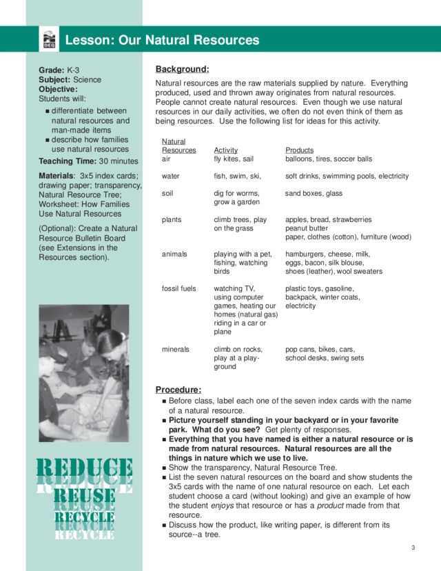 Fossil formation Worksheet or Our Natural Resources Lesson Plan Lesson Planet