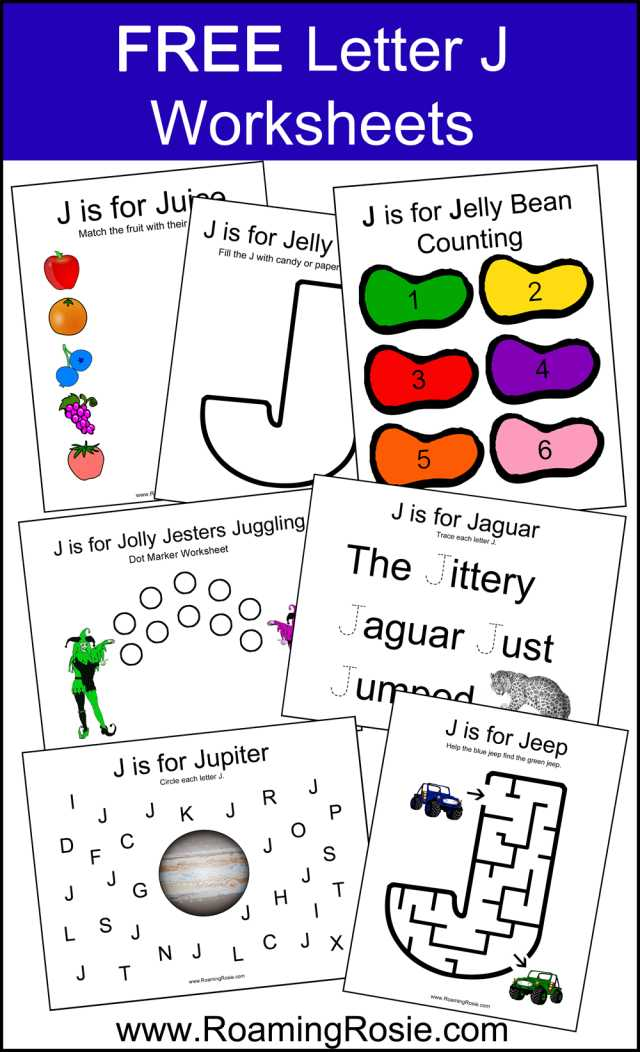 Free Alphabet Worksheets or Letter J Alphabet Activities Free Printable Worksheets From Roaming