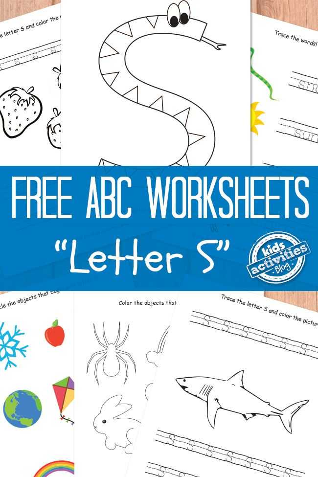 Free Alphabet Worksheets or Letter S Worksheets Free Kids Printable