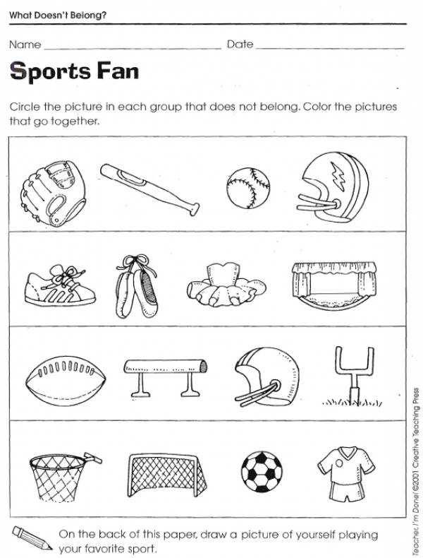 Free Compare and Contrast Worksheets for Kindergarten or What Doesn T Belong Worksheets