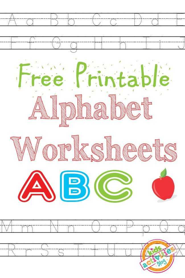 Free Printable Alphabet Worksheets and Alphabet Worksheets Free Kids Printable