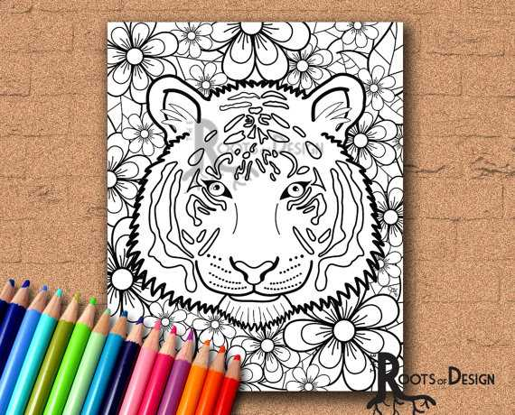 Free Printable Children's Bible Lessons Worksheets Along with Colouring Book Tiger