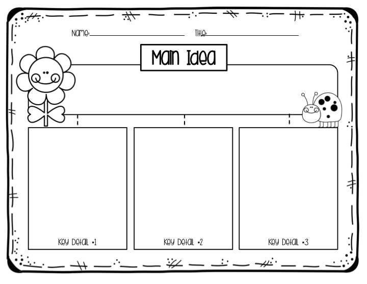 Free Printable Main Idea Worksheets Along with First Grade Main Idea Key Details Teaching
