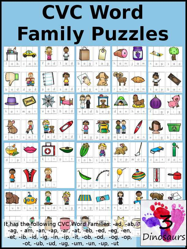 Free Printable Phonics Worksheets Along with Free Cvc Word Family Puzzles Short A