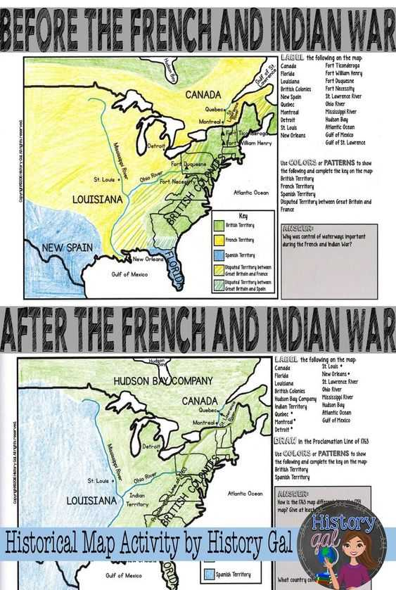 French and Indian War Worksheet or French and Indian War 5 Ws Storyboard by Matt Cbell