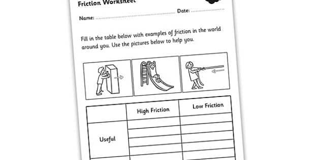 Friction Worksheet Answers with Friction Worksheet Friction Friction and Resistance High and