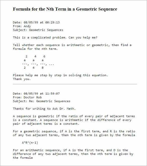 Geometric Sequences Worksheet Answers Along with Arithmetic Sequence Word Problems Worksheet with Answers Luxury