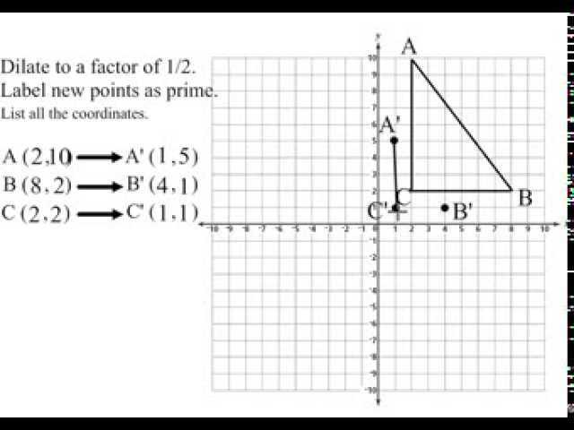Geometry Cp 6.7 Dilations Worksheet Answers or Dilations Lessons Tes Teach