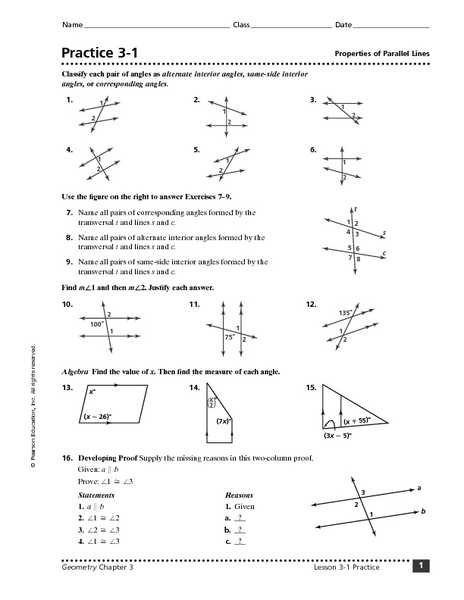 Geometry Parallel Lines and Transversals Worksheet Answers or Geometry Parallel Lines and Transversals Worksheet the Best