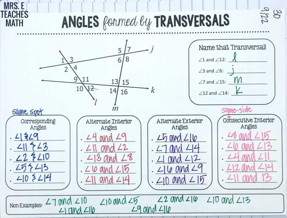 Geometry Parallel Lines and Transversals Worksheet Answers together with New Parallel Lines and Transversals Worksheet Lovely Worksheet