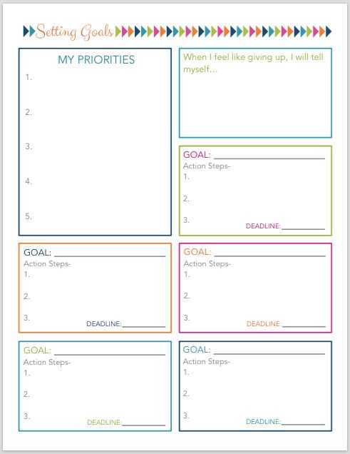 Goal Setting Worksheet for High School Students or 19 Best Goals Images On Pinterest