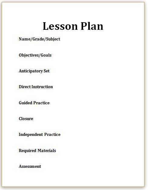 Goal Setting Worksheet for High School Students together with Here S What You Need to Know About Lesson Plans
