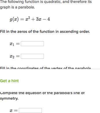 Graphing A Parabola From Vertex form Worksheet Answer Key Also Vertex & Axis Of Symmetry Of A Parabola Video