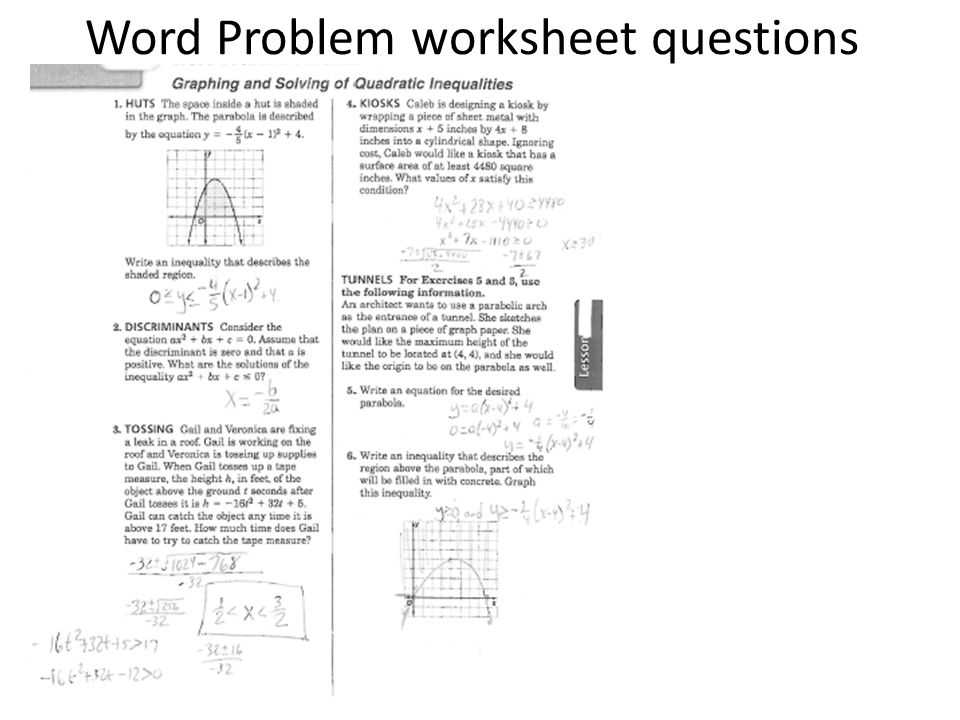 Graphing Inequalities Worksheet as Well as Word Problem Worksheet Questions Ppt Video Online