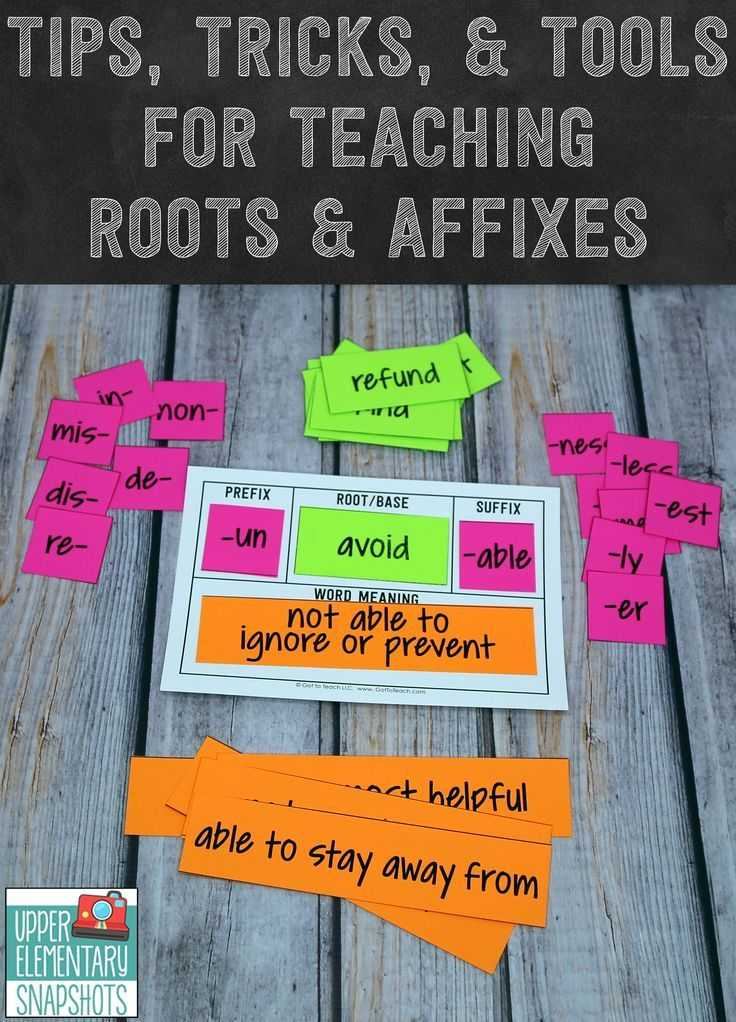 Greek and Latin Roots 4th Grade Worksheets or Tips Tricks and tools for Teaching Roots and Affixes