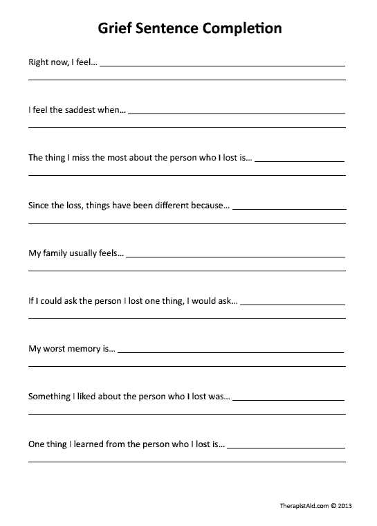 Grief therapy Worksheets with Great Website with Worksheets for therapists