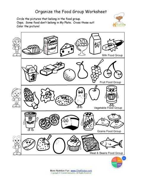 Healthy Food Worksheets Along with 43 Best Food Groups Images On Pinterest
