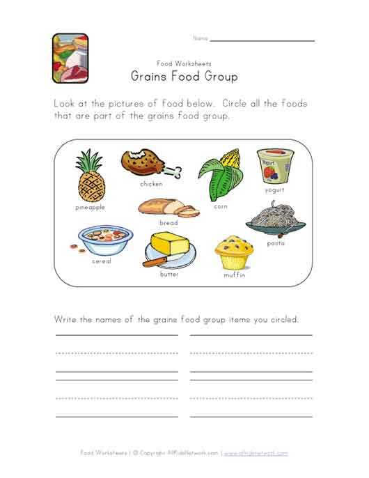Healthy Food Worksheets Along with This Simple Food Worksheet is Perfect for Any Food or Grains Food